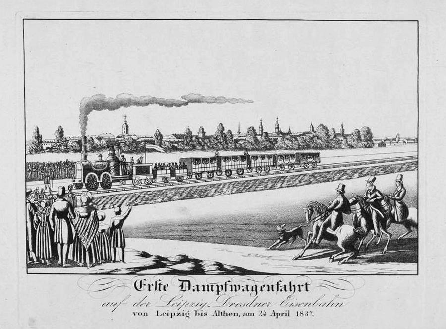 Erste Dampfwagenfahrt