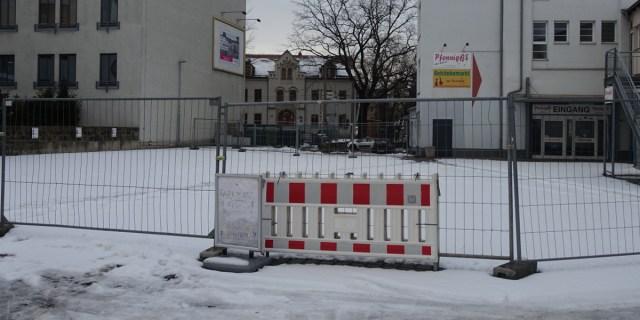 Leipziger Straße 112 absperrung