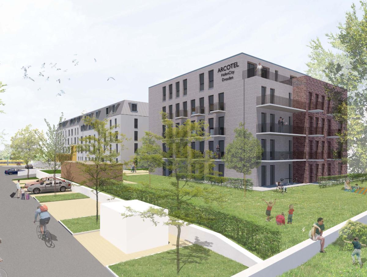 Arcotel Visualisierung Appartmenthaus