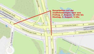 Mängelbeseitigung am Knotenpunkt Washingtonstraße/Kötzschenbroder Straße/Lommatzscher Straße