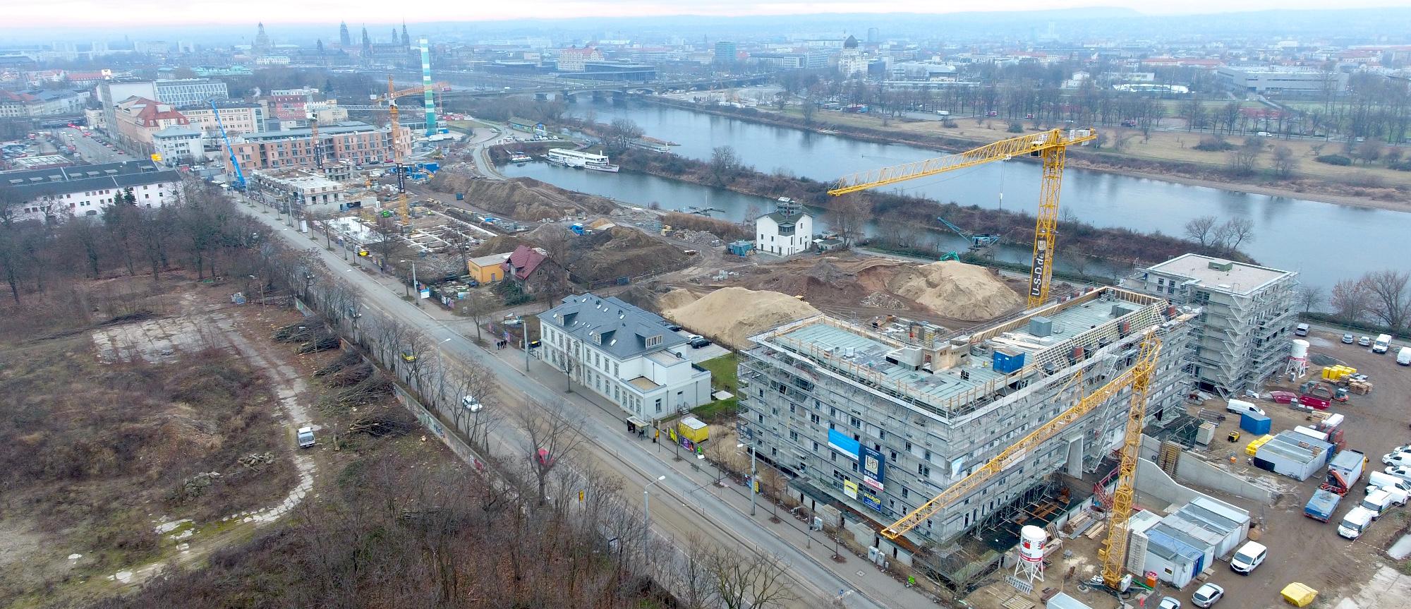 Arcotel Hafencity Luftaufnahme