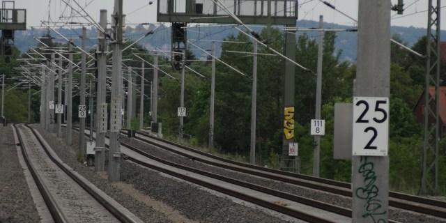 Haltepunkt Trachau Gleise