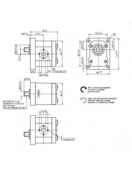 Pompa Hidraulica Same 2.4529.200.0/10, 2.4529.300.0/10, 2