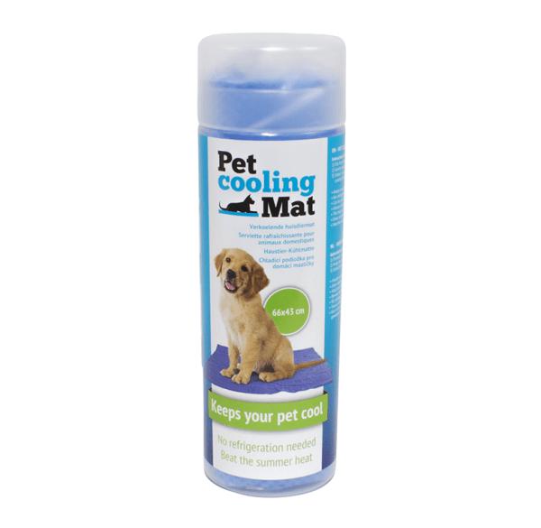 Mata chłodząca dla psa niebieska