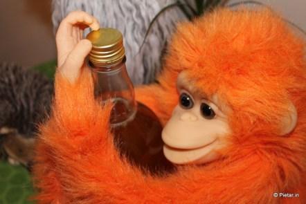 Apina halaa simapulloa.