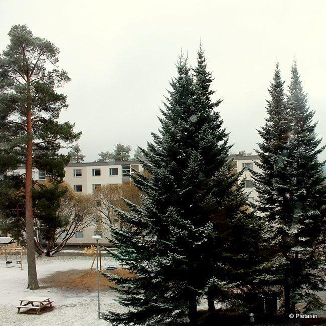 Lumi saapui lokakuussa
