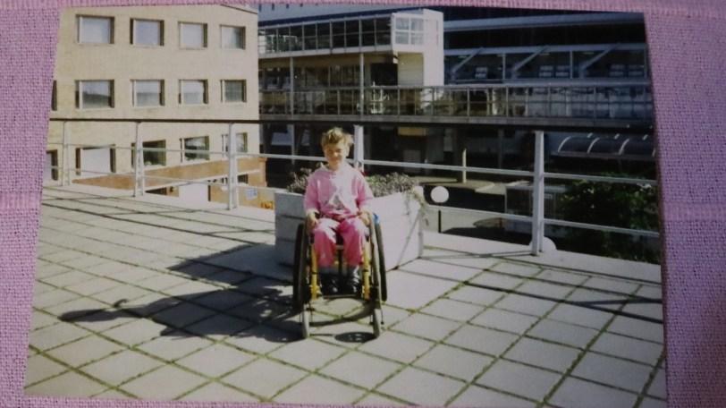 Ensimmäinen pyörätuolini.
