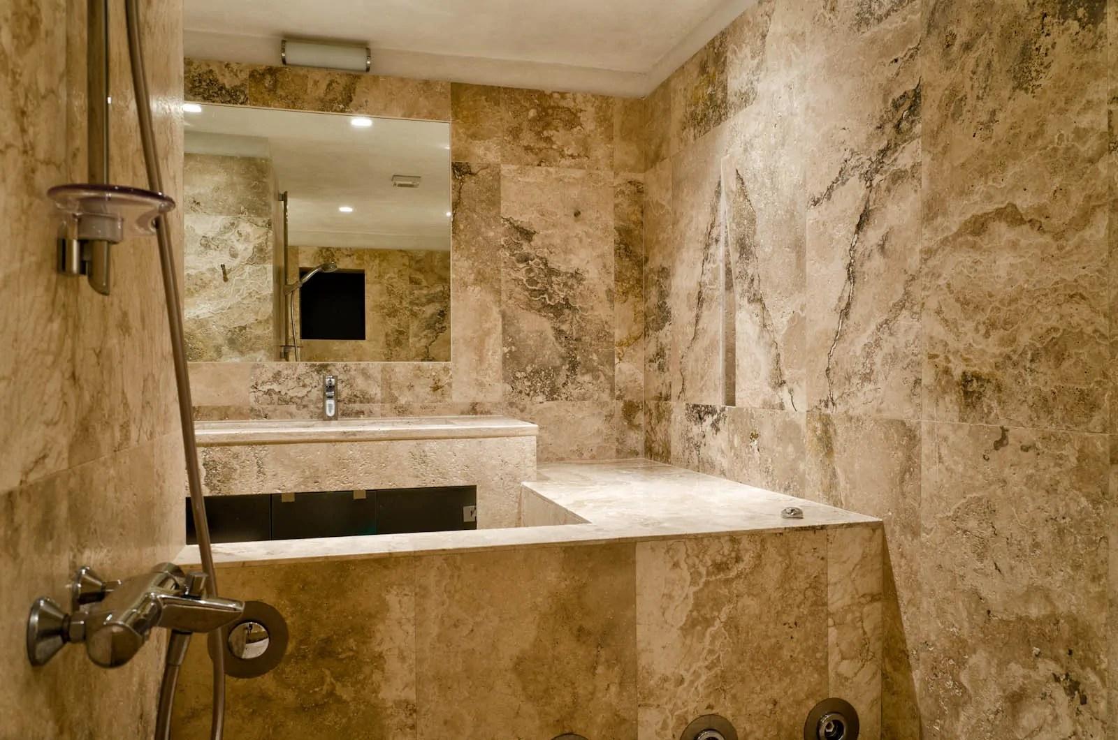 Bagno pietra zen collezione giunone by edonè design garavaglia