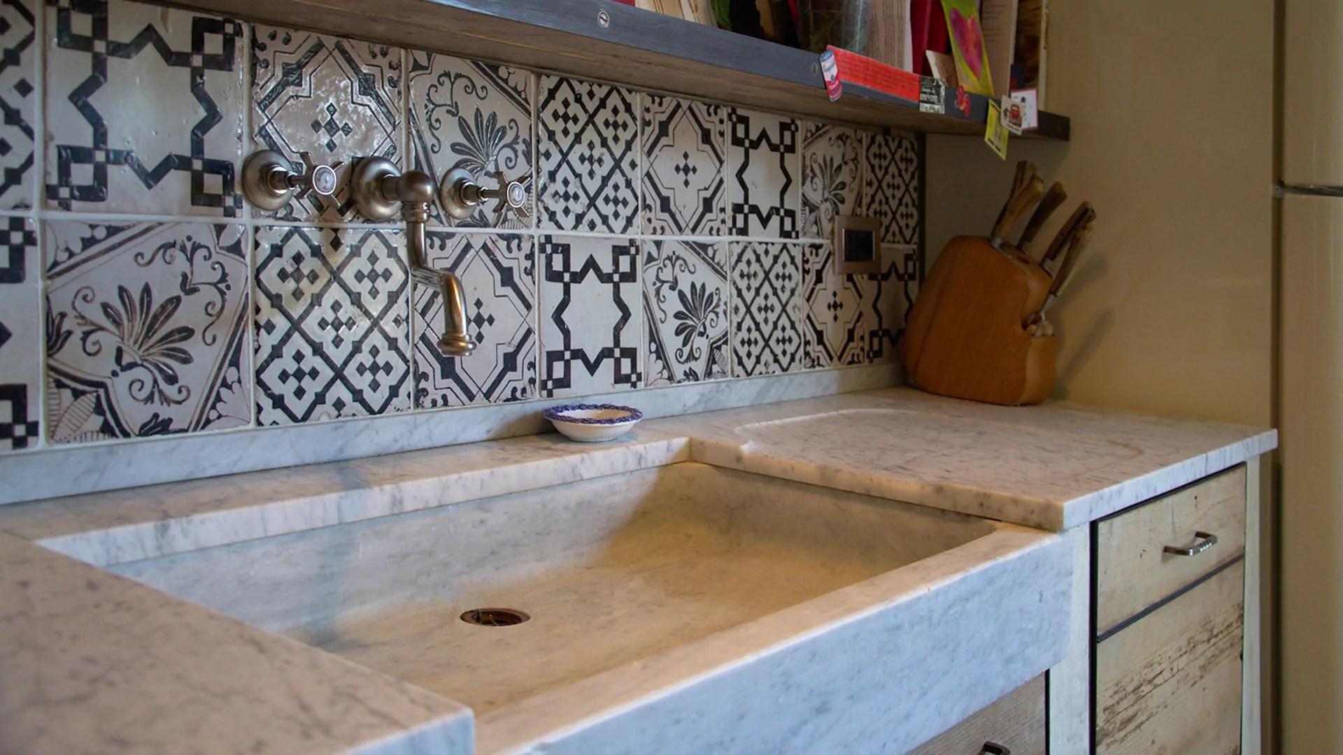 Lavabi Cucina Cucina Moderna Metallo Rubinetto Cappa Lavello