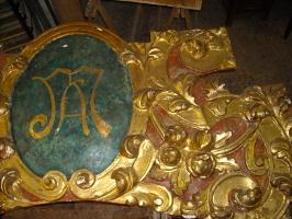 carta del restauro, intaglio dorato