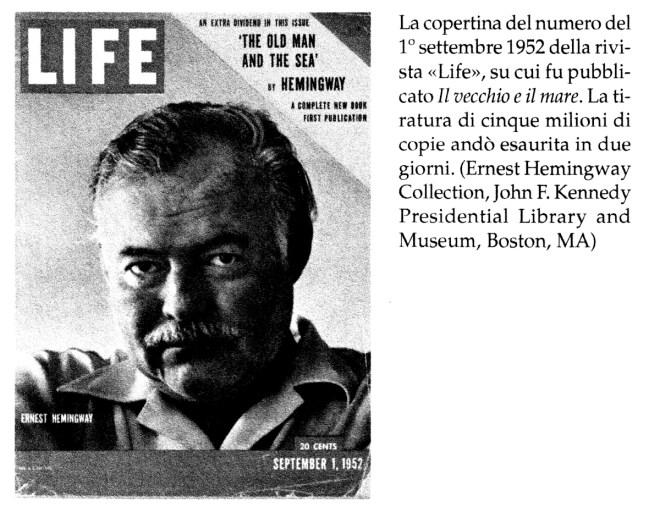 Copertina Life di Hemingway