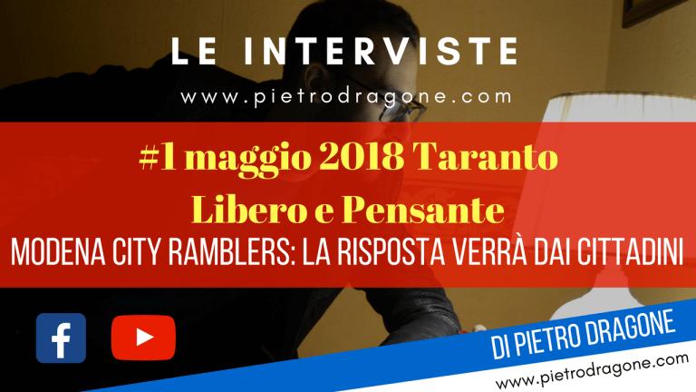 Modena City Ramblers: la risposta verrà dai cittadini