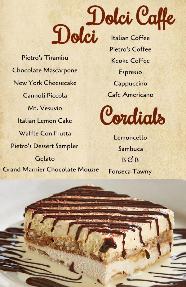 Dessert  Grand Rapids MI  Pietros Italian Restaurant