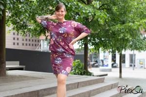 PiexSu Schnittmuster Aria Kleid Jersey nähen ebook Nähanleitung Fledermauskleid Shirt-8016