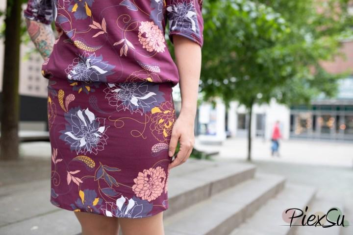 PiexSu Schnittmuster Aria Kleid Jersey nähen ebook Nähanleitung Fledermauskleid Shirt-8031