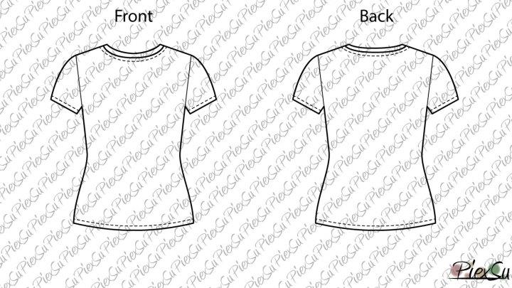 PiexSu-Schnittmuster-Tessa-Girls-T-Shirt-nähen-technische-Zeichnung-kurzarm