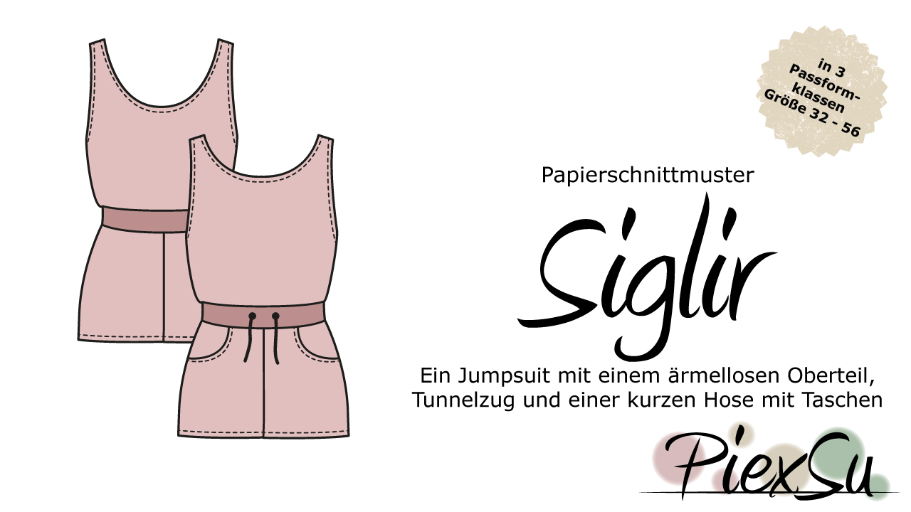 Papierschnittmuster PiexSu Siglir