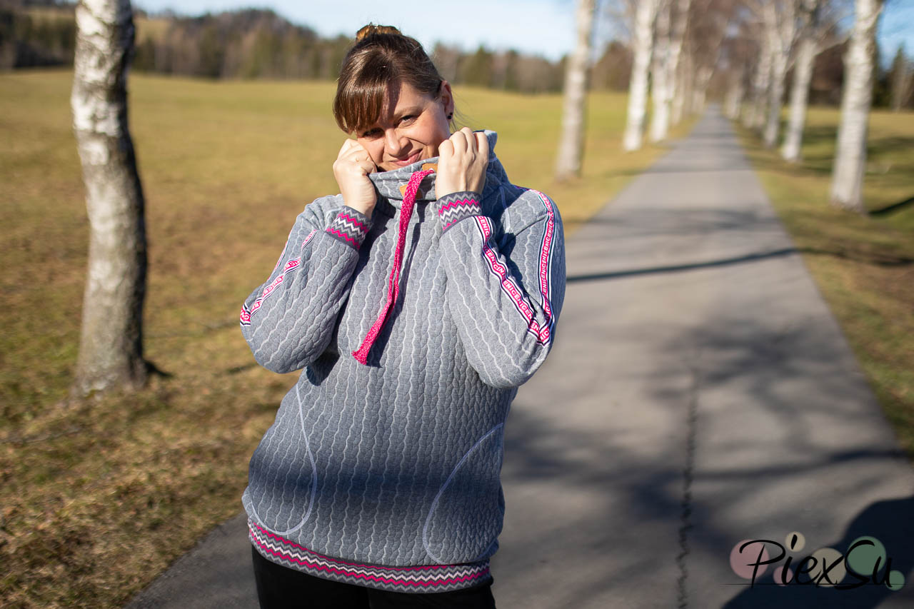 PiexSu Modest Pulli Pullover Raglanpulli Raglanärmel Schnittmuster nähen Sweatstoff Sweatshirt Nähanleitung -7546