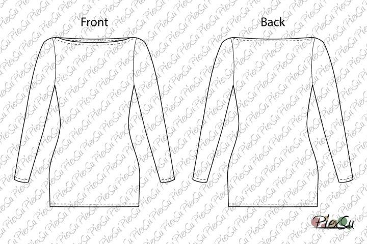 PiexSu-Schnittmuster-Betty-U-Boot-Ausschnitt-Shirt-nähen-eBook-Nähanleitung-jersey-lange-Ärmel