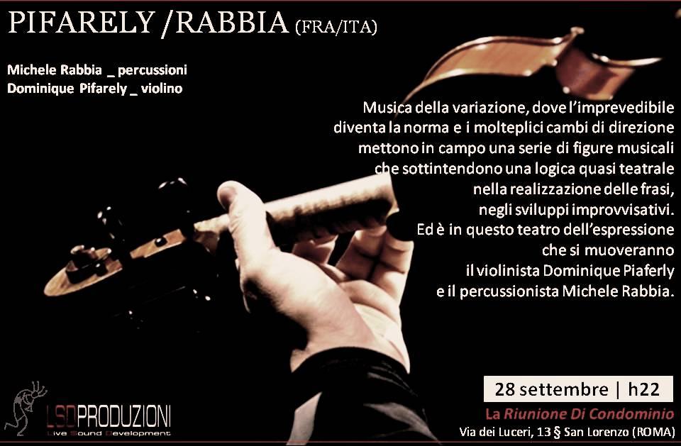avec Michele Rabbia, à Rome