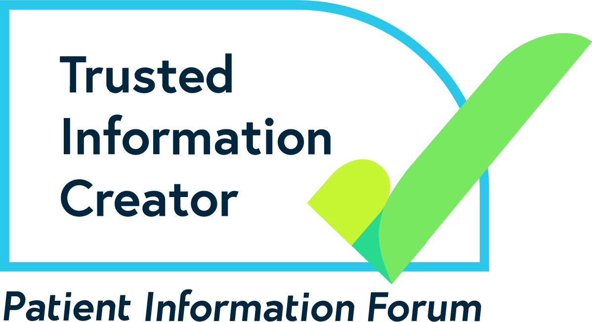 PIF TICK logo – A PIF TICK with the text Trusted Information Creator, Patient Information Forum