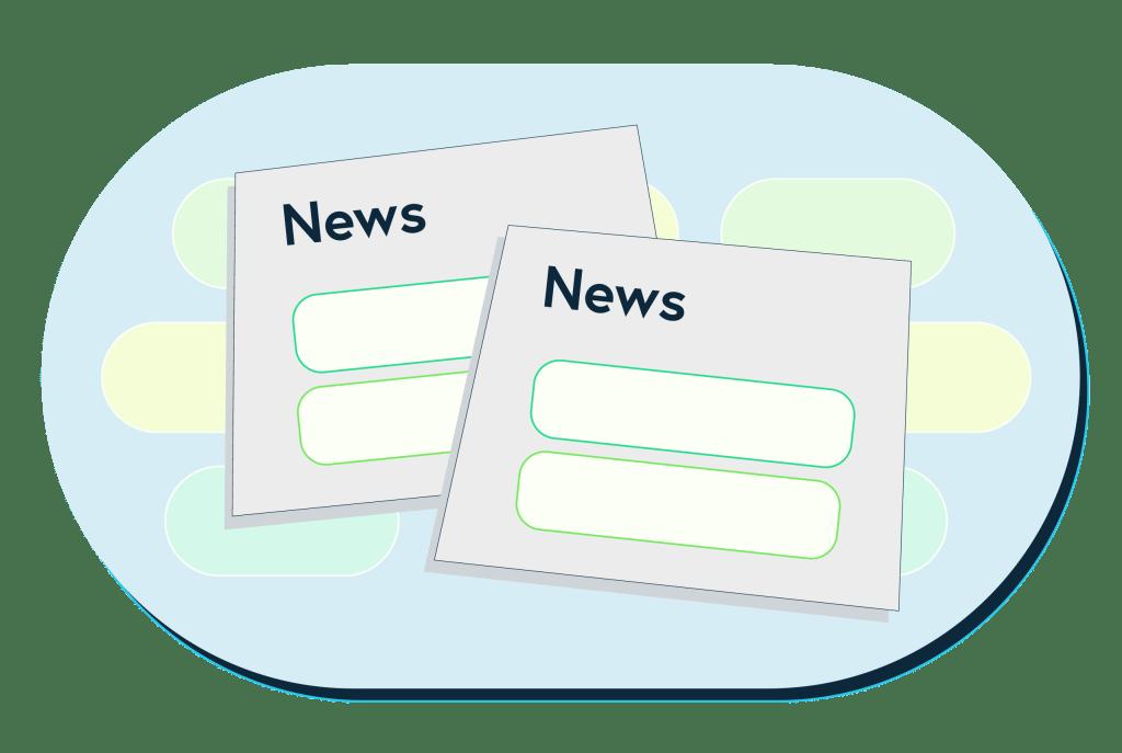 Illustration of news stories