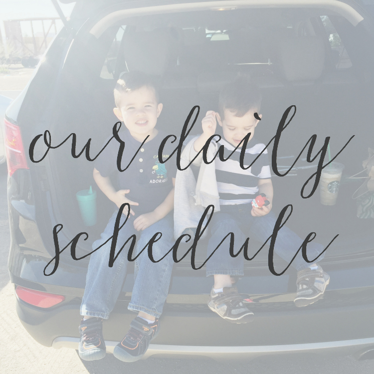 Daily Schedule with a 2 and 4 Year Old