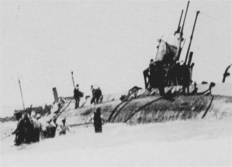 USS H-1 aground