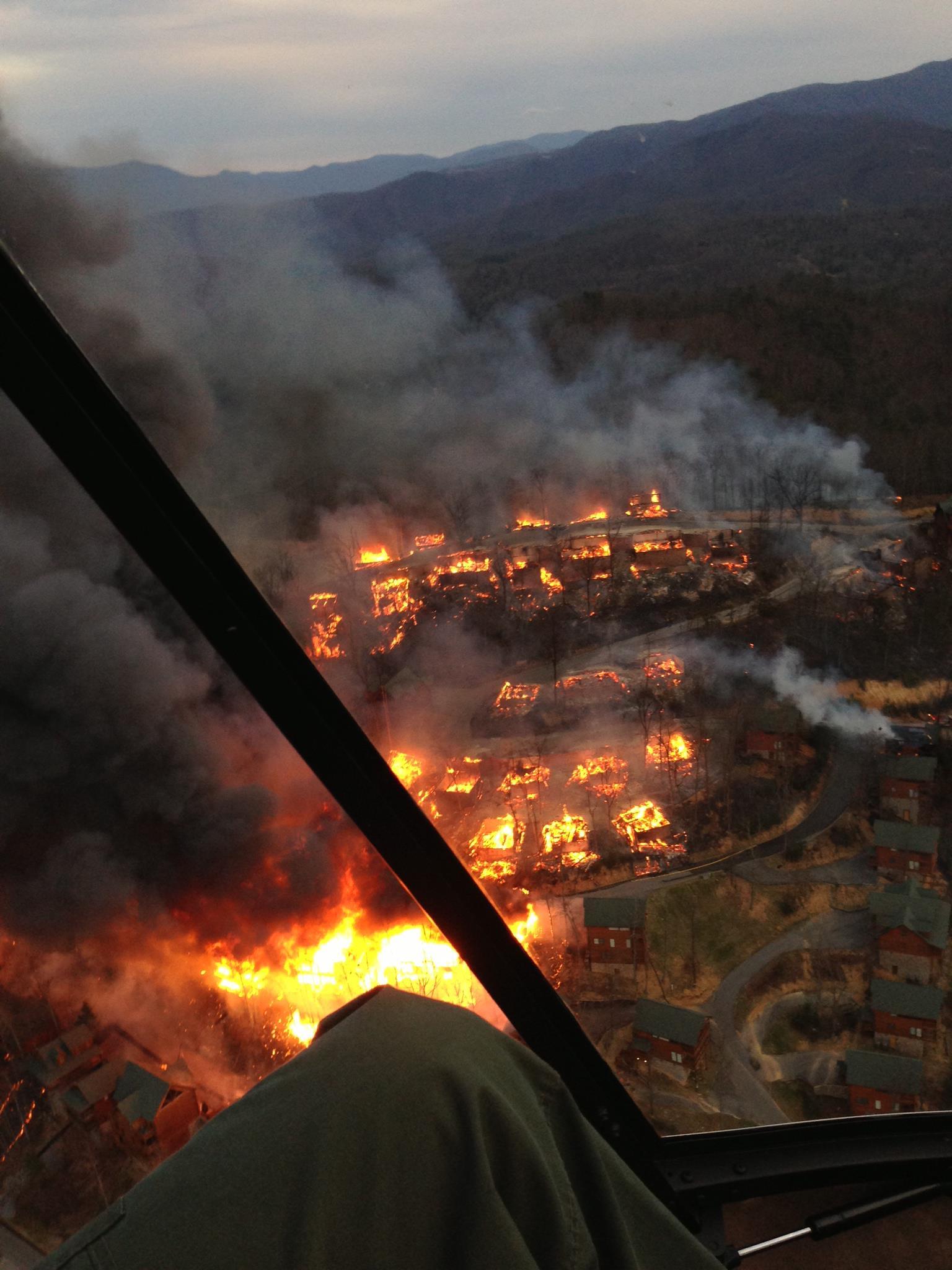 Fires In Gatlinburg Map : fires, gatlinburg, Pigeon, Forge, Cabins