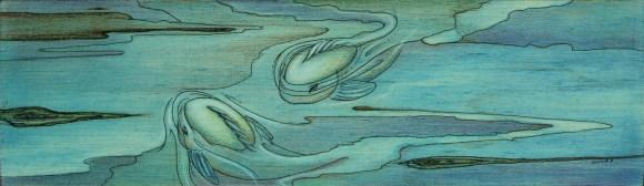 Micron and prisma pencil on Ambrosia wood panel.