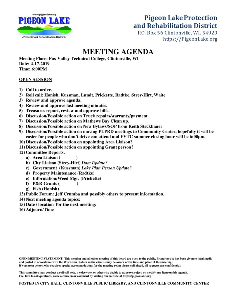 thumbnail of PIGEON LAKE MEETING AGENDA 4-17-2019