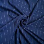Tencel Thin White Stripe #4 Navy148 165