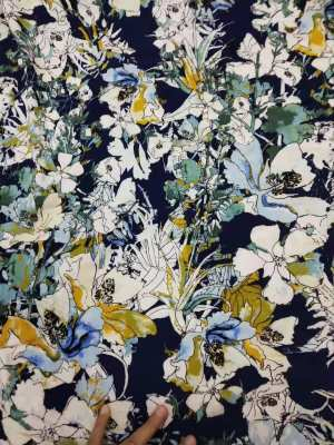 Floral Accumulation Silky Cotton #