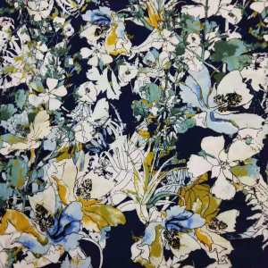 Floral Accumulation Silky Cotton #