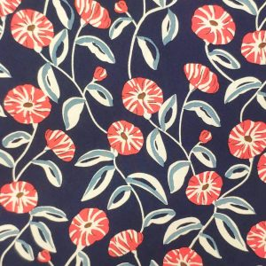 Poppy flower on Navy