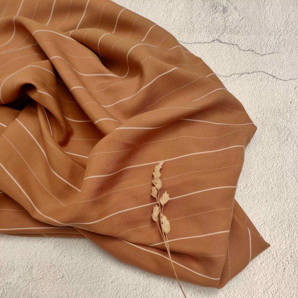 Tencel Wide Thin Stripe Rust147 175