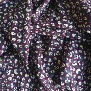 Leopard print twill -tb-hsby.4.32 purple