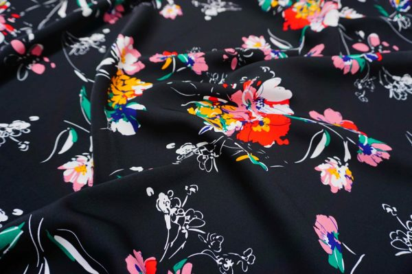 Floral on black -xg.FOB