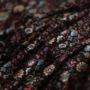 Small floral knitted printed fabric -jdby.KF