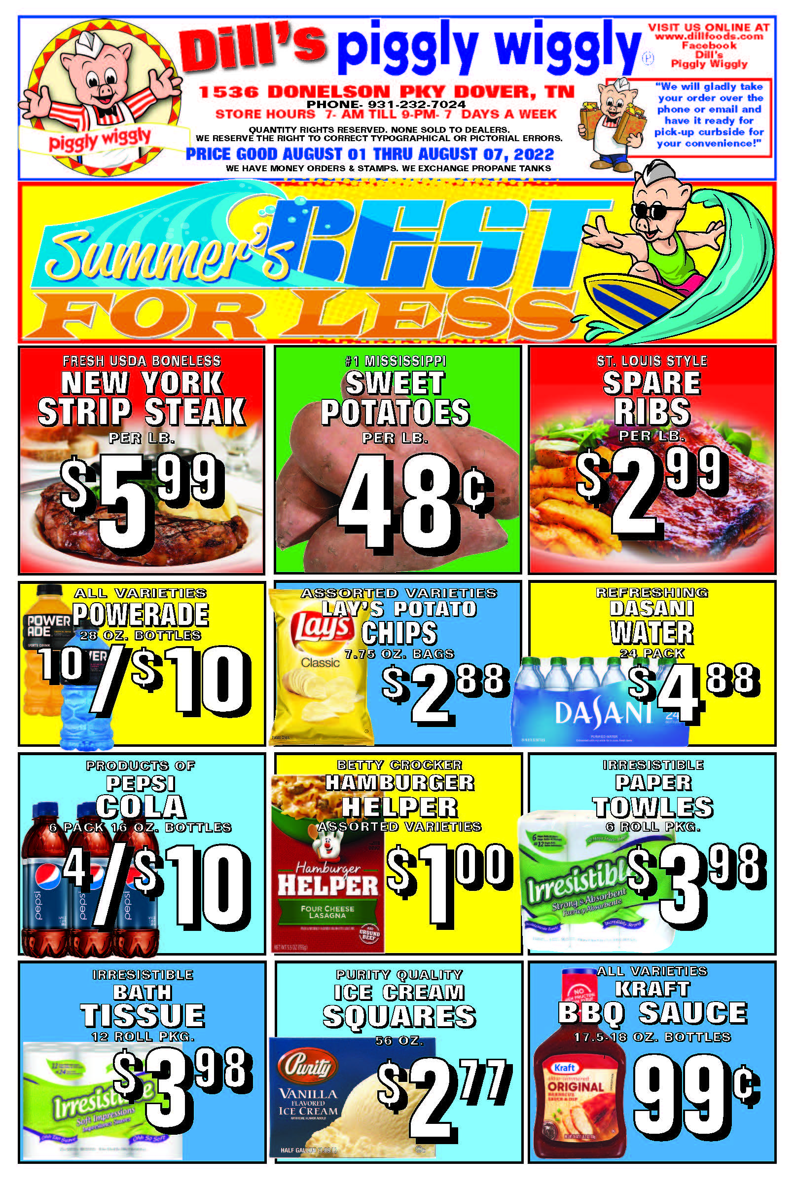 Piggly Wiggly Weekly Specials Ad