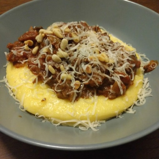 Black Pudding Ragu with Parmesan Polenta Thomasina Miers Home Cook