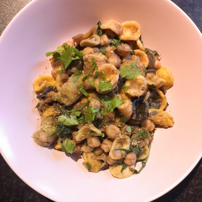 Gigli with chickpeas and za'atar   There is beauty in the beige-ness Yotam Ottolenghi Ottolenghi Simple