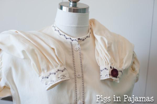 Truly vicorian 441 1861 garibaldi blouse cuff and collar detail 35560292972 o