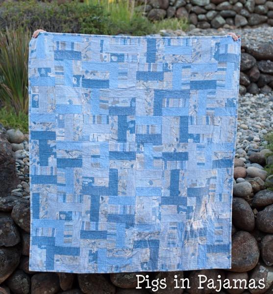 Baby boy woodland creature flannel quilt 30689932872 o