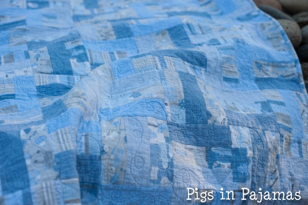 Baby boy woodland creature flannel quilt 30689938232 o