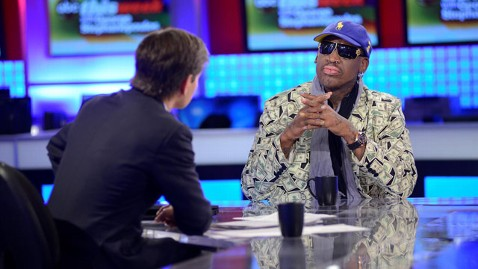 Rodman on ABC's This Week (Photo: ABC)