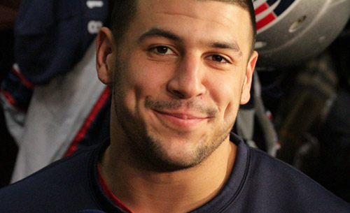 Patriots tight end Aaron Hernandez  (Photo: Patriots)