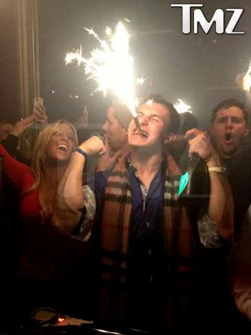 Johnny Manziel (aka Johnny Football) lights it up. (Photo: TMZ)