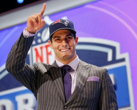 New Patriots quarterback Jimmy Garoppolo