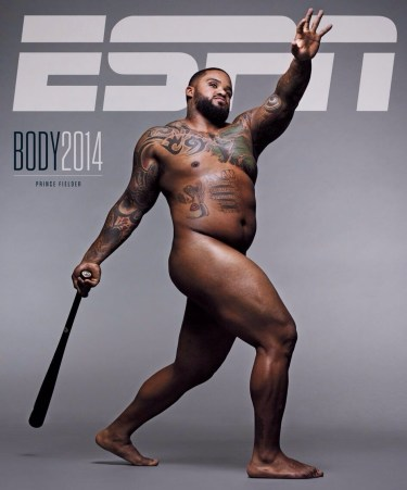 Prince Fielder on the 2014 ESPN Body issue   (Photo: ESPN Magazine)